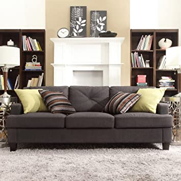 Enjoyable Amazon Com Chelsea Lane Upholstered Tufted Sofa Dark Ocoug Best Dining Table And Chair Ideas Images Ocougorg