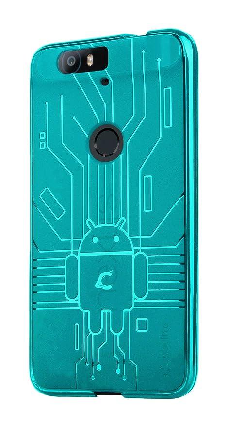 brand new 4dff2 51dd9 Huawei Nexus 6P Case, Cruzerlite Bugdroid Circuit Case Compatible for  Huawei Nexus 6P - Retail Packaging - Teal