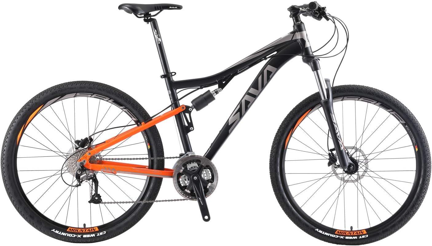 SAVADECK Bicicleta de montaña con suspensión Doble, 27.5 de ...