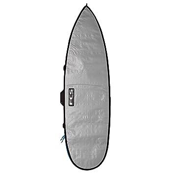 FCS Unisex Classic Short Board tabla de surf bolsa, Silver/Tarpee