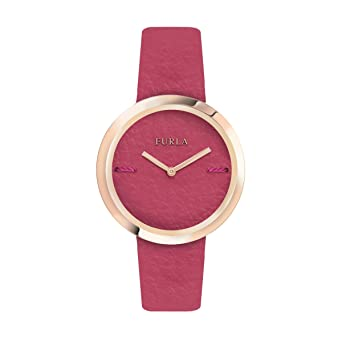 c2fead1149 Image Unavailable. Image not available for. Color: Furla My Piper Women's  R4251110503 Quartz Pink Leather Strap Watch