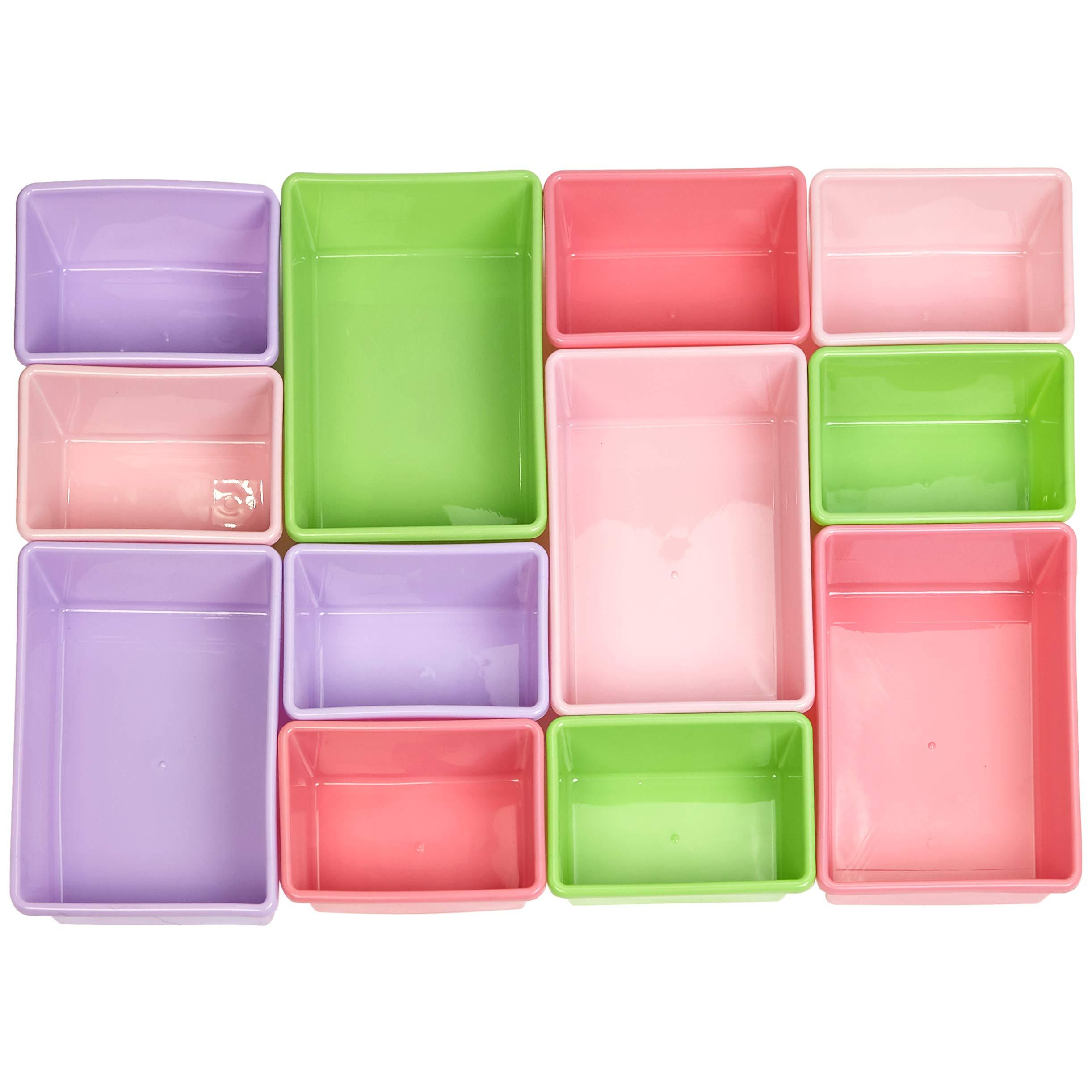 AmazonBasics Kids Toy Storage Organizer Bins - White/Pastel by AmazonBasics (Image #5)