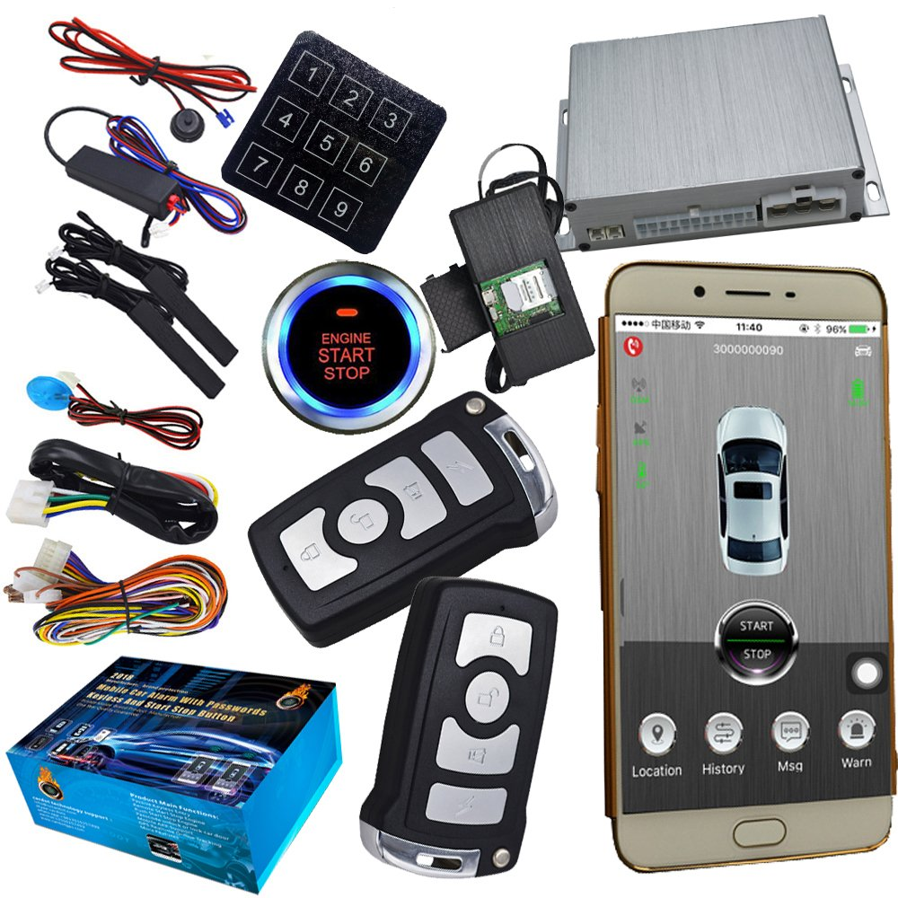 Smart Phone Automotive Car Security Alarm With GPS Online Tracking And Mobile APP Control