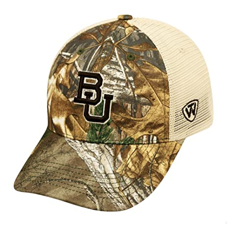 sale retailer bb17a 75295 Image Unavailable. Image not available for. Color  Top of the World Baylor  University Bears Realtree Camouflage Mesh Trucker Hat