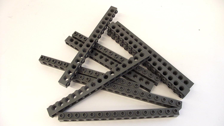 LEGO Lot of 2 Dark Bluish Gray 1x16 Technic Brick Pieces