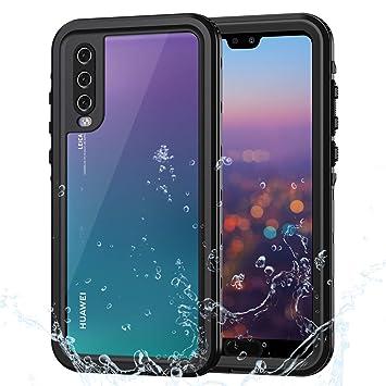 Lanhiem Funda Impermeable Huawei P20 Pro, Carcasa Resistente Al Agua IP68 Certificado [Protección de 360 Grados], Carcasa para Huawei P20 Pro con ...