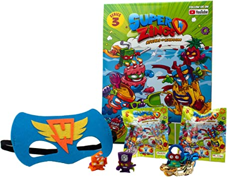 MojiPops SuperZings Serie 3 - Revista Starter Pack, Multicolor: Amazon.es: Juguetes y juegos