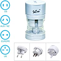 SeCro International Travel Adapter All in One (EU, US,AUS,NZ,Europe,UK) 150+ Countries