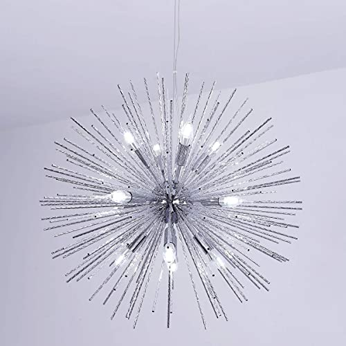 Jaycomey Chandeliers Firework Chandelier,Chrome Modern Pendant Lighting