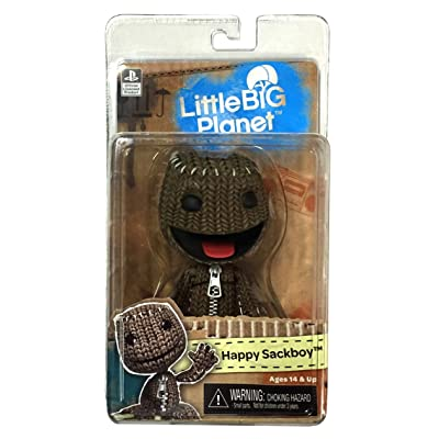 "NECA Little Big Planet 7"" Scale Series 1 Sackboy Happy Action Figure: Toys & Games"