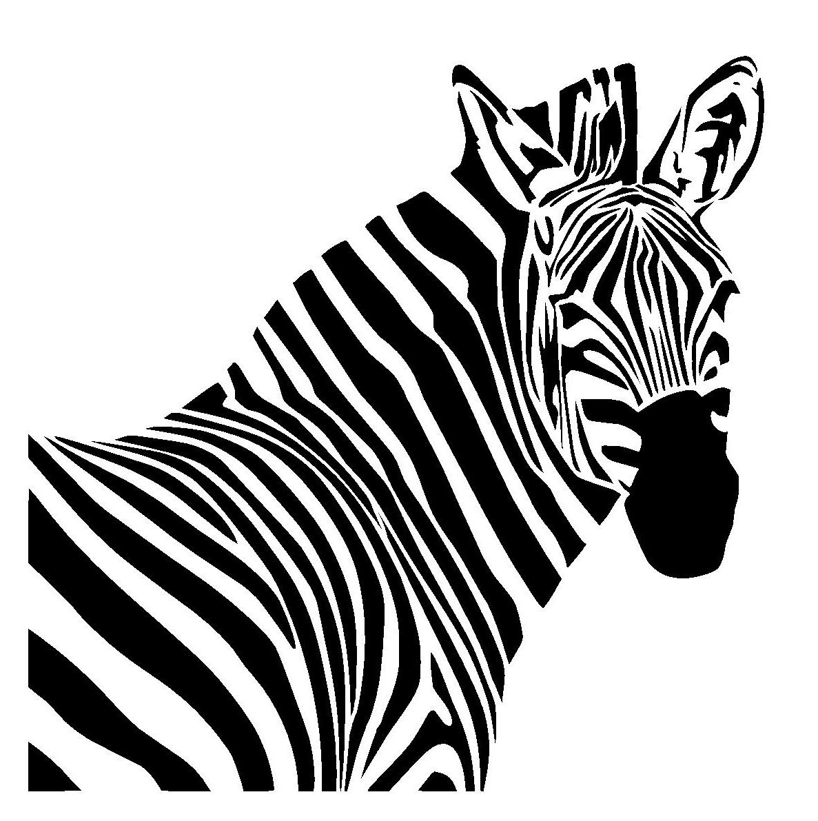 Zebra stencil 1. Choose size and thickness.