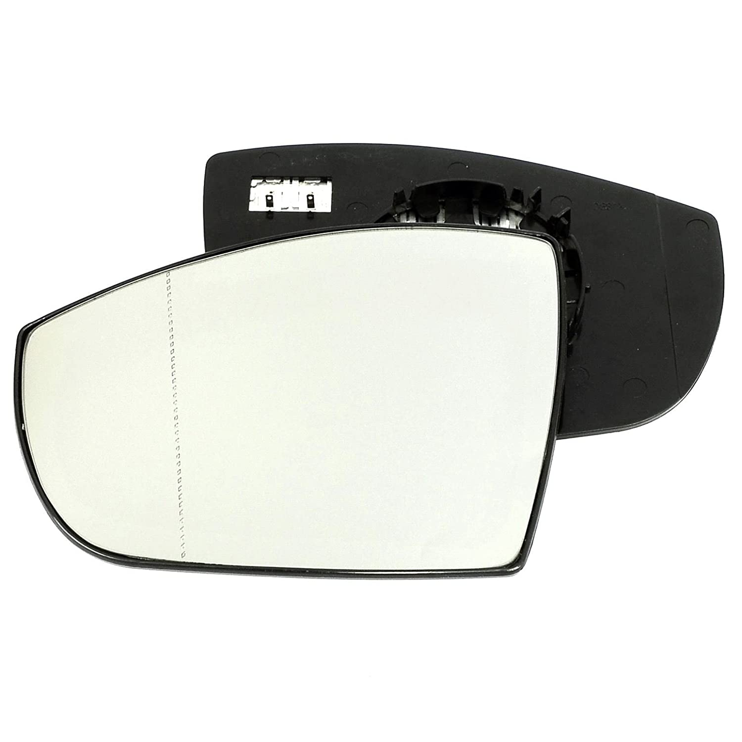 Passenger left hand side Heated wing door Silver mirror glass with backing plate #W-SHY/L-FDKUA08 [Clip On] Sylgab