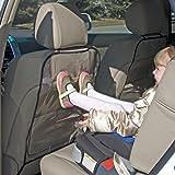 2PC Auto Seat Back Protector Koly Children Kids Kick Mat Mud Clean Car Care (Black)