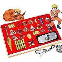 TZYWSSTD Cosplay,28 Pcs Kits Anime Naruto Kakashi Accessories Cosplay Weapon Metal Kunai Itachi God Four Generations of…