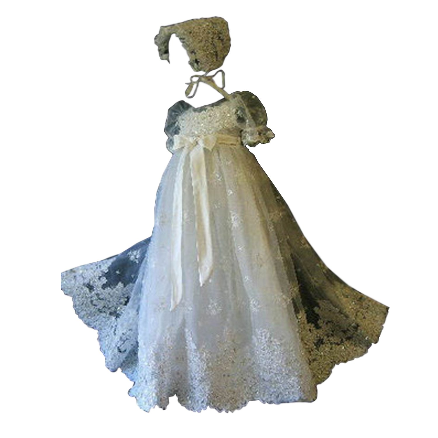 Portsvy Baby Girls Lace Christening Gowns Baptism Gown Formal Dresses for Baby