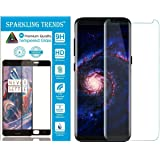 SPARKLING TRENDS 6.2-inches 3D Tempered Glass Screen Protector for Samsung Galaxy S9 Plus (Transparent)