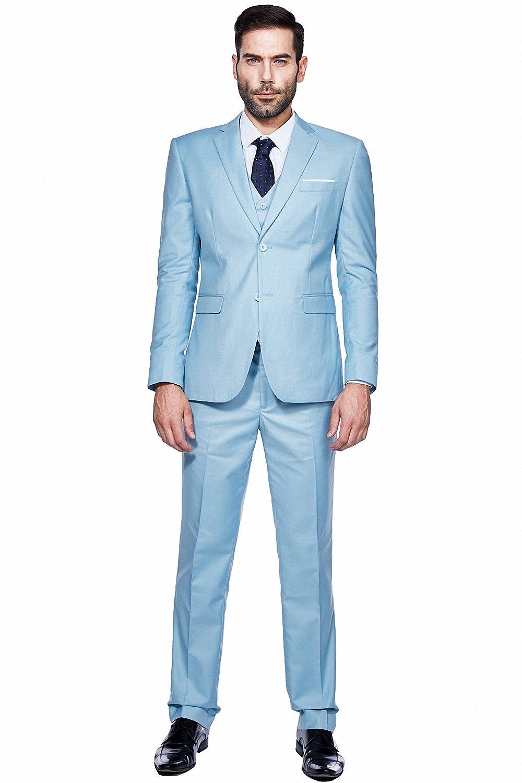 f42d4e707352 WEEN CHARM Mens Suits 2 Button Slim Fit 3 Pieces Suit [1541579352 ...