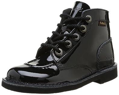 Kickers Col Perm, Boots fille, Noir (83 Noir Vernis), 36