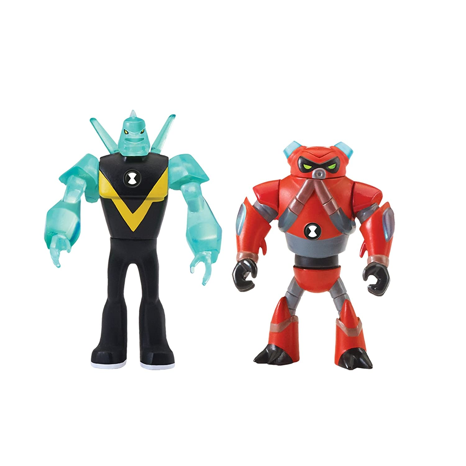 Ben 10 Alien Creation Figures 2 Pack (Diamondhead, Overflow), Multi Playmates Toys 76781