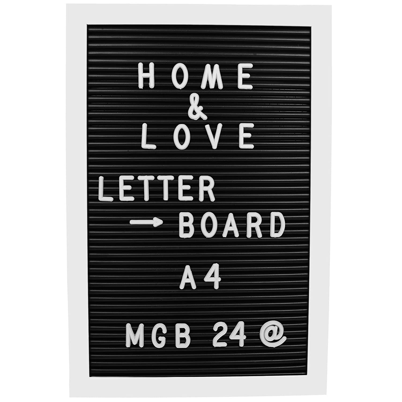 My-goodbuy24 Letter Board A4 inkl. 143 Buchstaben und Zahlen | 210 x 297 mm | Tafel Buchstabenbrett Rillentafel | Letterboard Pinnwand Memoboard | Rahmen : Weiß Unbekannt