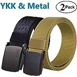 Fairwin Tactical Nylon Web Belt For Men with Metal/YKK Plastic Buckle