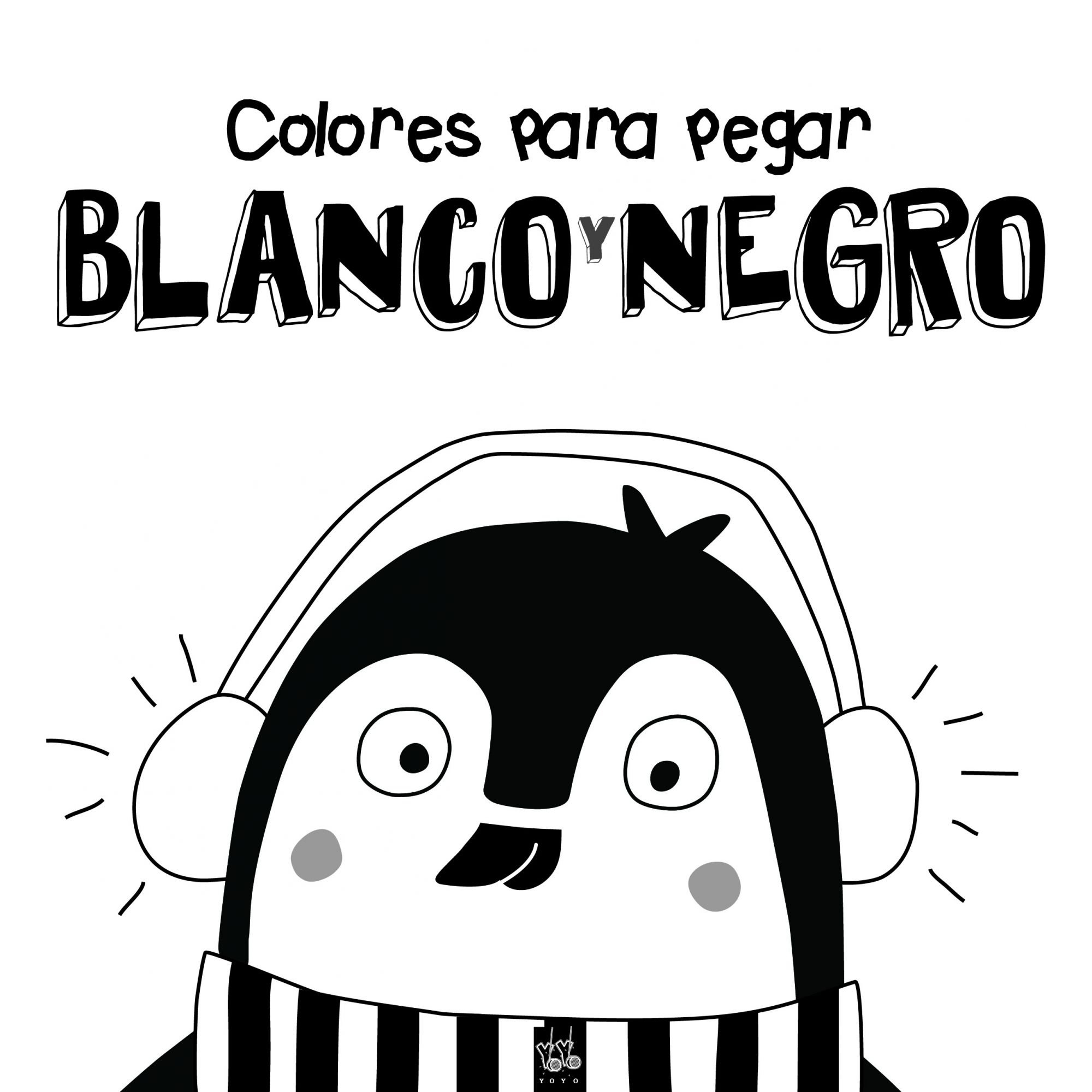 Colores para pegar. Blanco y negro
