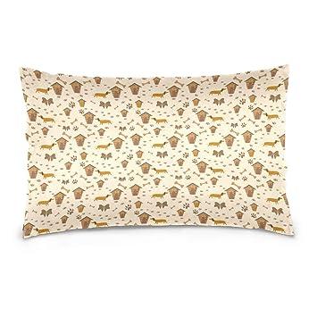 Amazon.com: Dachshund - Funda de almohada para perro con ...