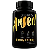 Anser Beauty Supplement by Tia Mowry - High Potency Biotin 1000mcg & Coconut Water...