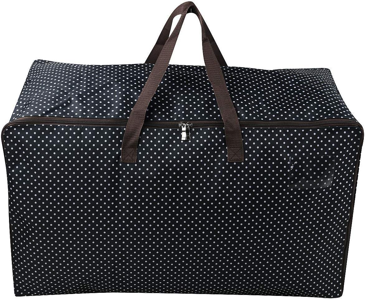 Bolsa de almacenamiento impermeable con asas resistentes, perfecta como bolsa de viaje, bolsa de transporte para la universidad, para camping, Navidad, festivales, lavable (65 x 42 x 35 cm), color azu