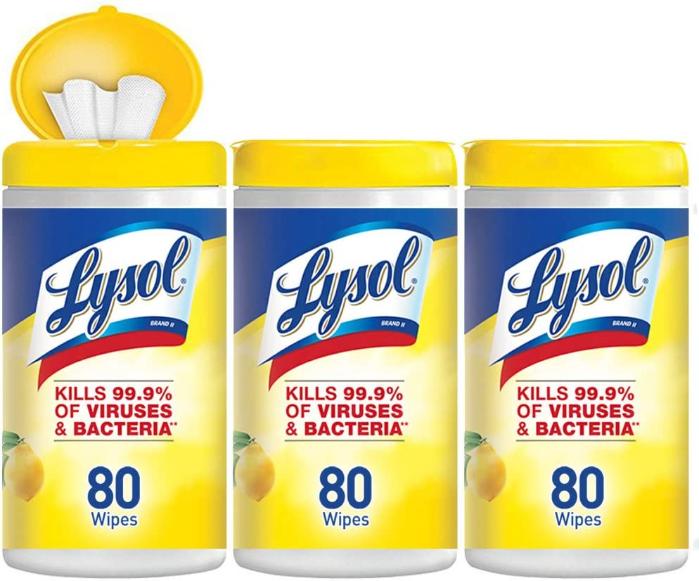 Lysol Disinfecting Wipes, Lemon Lime 80 count (pack of 3): Health & Personal Care