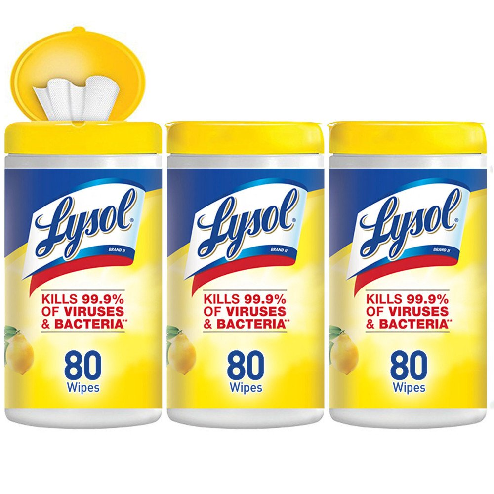 Lysol Disinfecting Wipes, Lemon & Lime Blossom, 240ct (3X80ct) product image