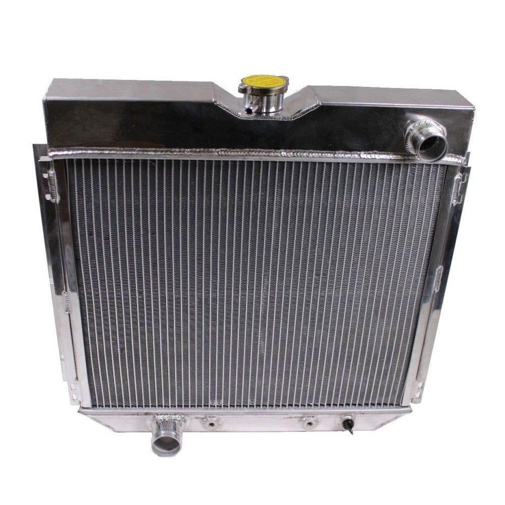 3-Row//Core Aluminum Racing Radiator 25.25 x 20.75 x 2.5 /& 8 Radiator Cooling Fan 12v 1416cfm for 67-70 Ford Mustang//Falcon//Fairlane V8