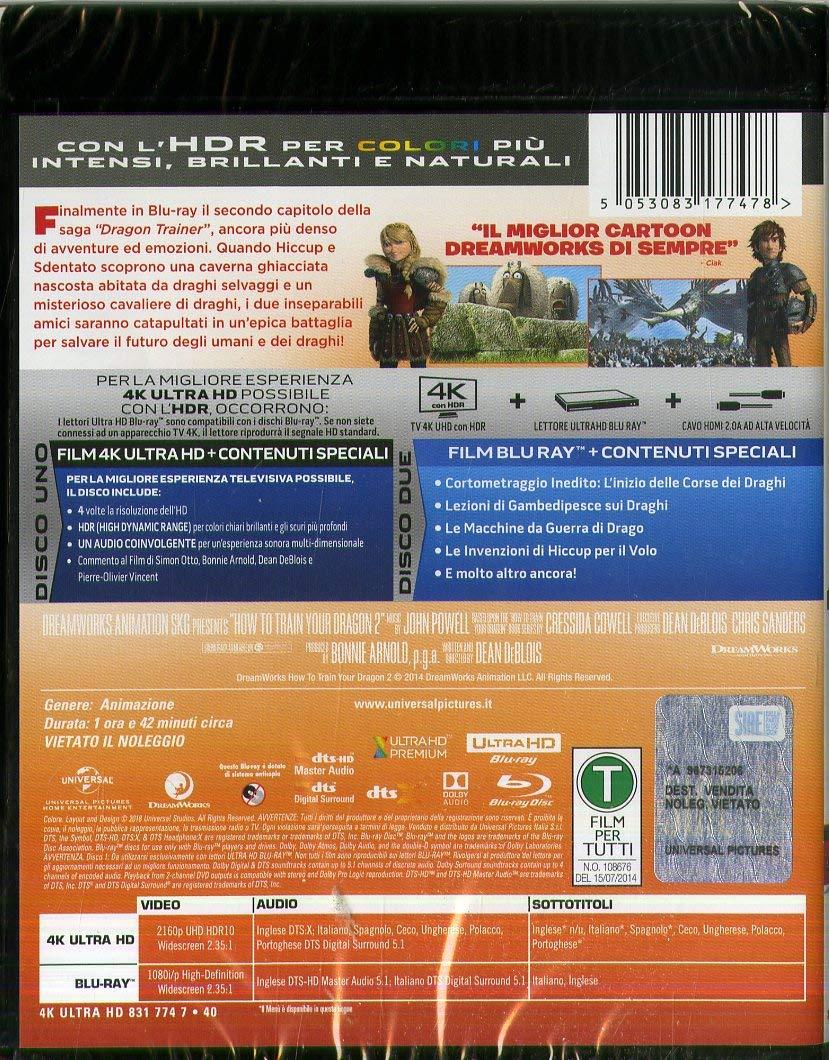 Dragon Trainer 2 Blu-Ray 4K Ultra HD+Blu-Ray Italia Blu-ray ...