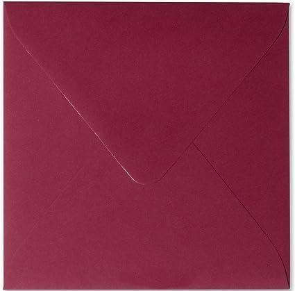 25x Klappkarten quadratisch 150 x 150 mm // 15 x 15 cm Pink