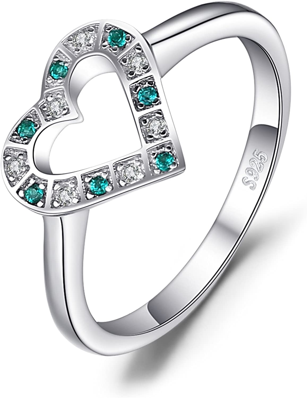 JewelryPalace Anillo multicolor con cinco gemas en Plata de ley 925