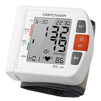 Tensiómetro Électronique Monitor de presión arterial de muñeca , Alta precisión, 90 memorias, Dos