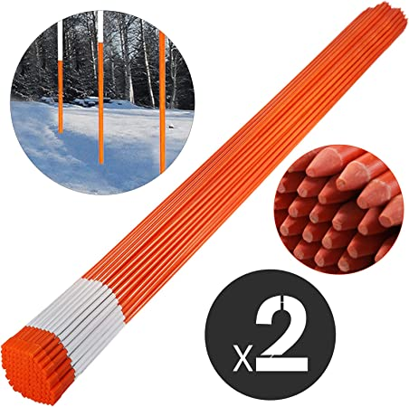 FiberMarker Hollow Plastic Tube Reflective Driveway Markers 48-Inch Red 10-Pack 5//16-Inch Dia Driveway Poles for Easy Visibility at Night
