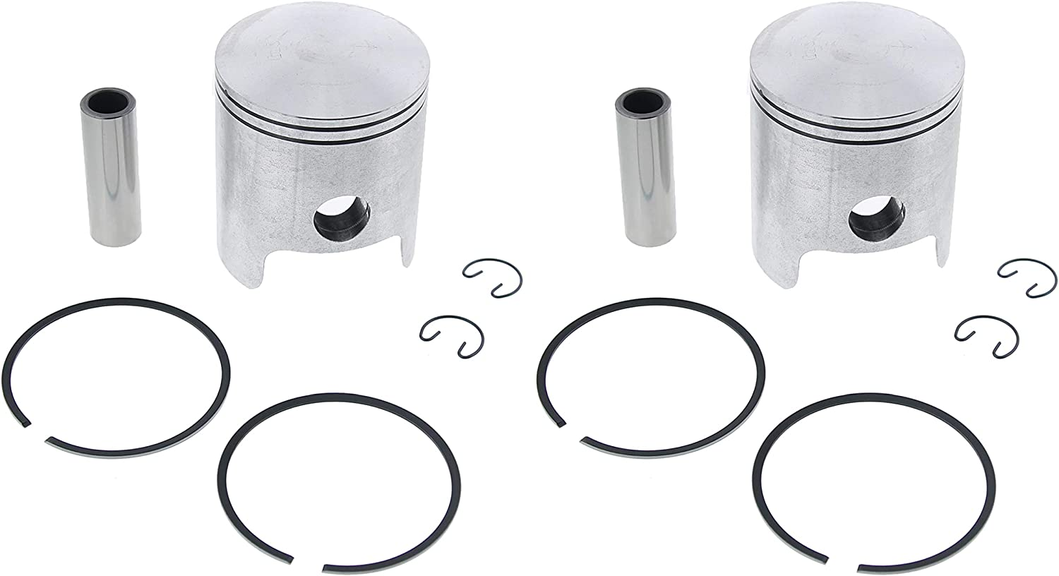 Piston and Gasket Kit fits Yamaha Enticer 340 ET340 1978-1988 by Race-Driven
