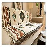 aztèque Bohème 90x 150cm Canapé géométrique Design Tribal ethnique Couverture Rugs Couvre-lit Tapis indien d'Amérique Coton