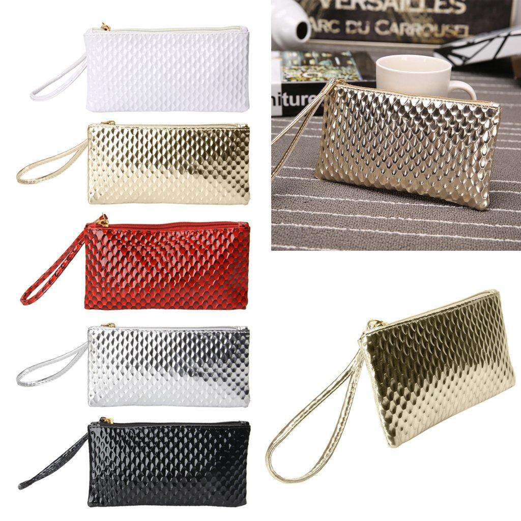 SimpleLif Leather Envelope Clutch Bag,Evening Shoulder Bag, Messenger Phone Bag for Bridal Wedding Handbag Prom Bag by SimpleLif (Image #4)