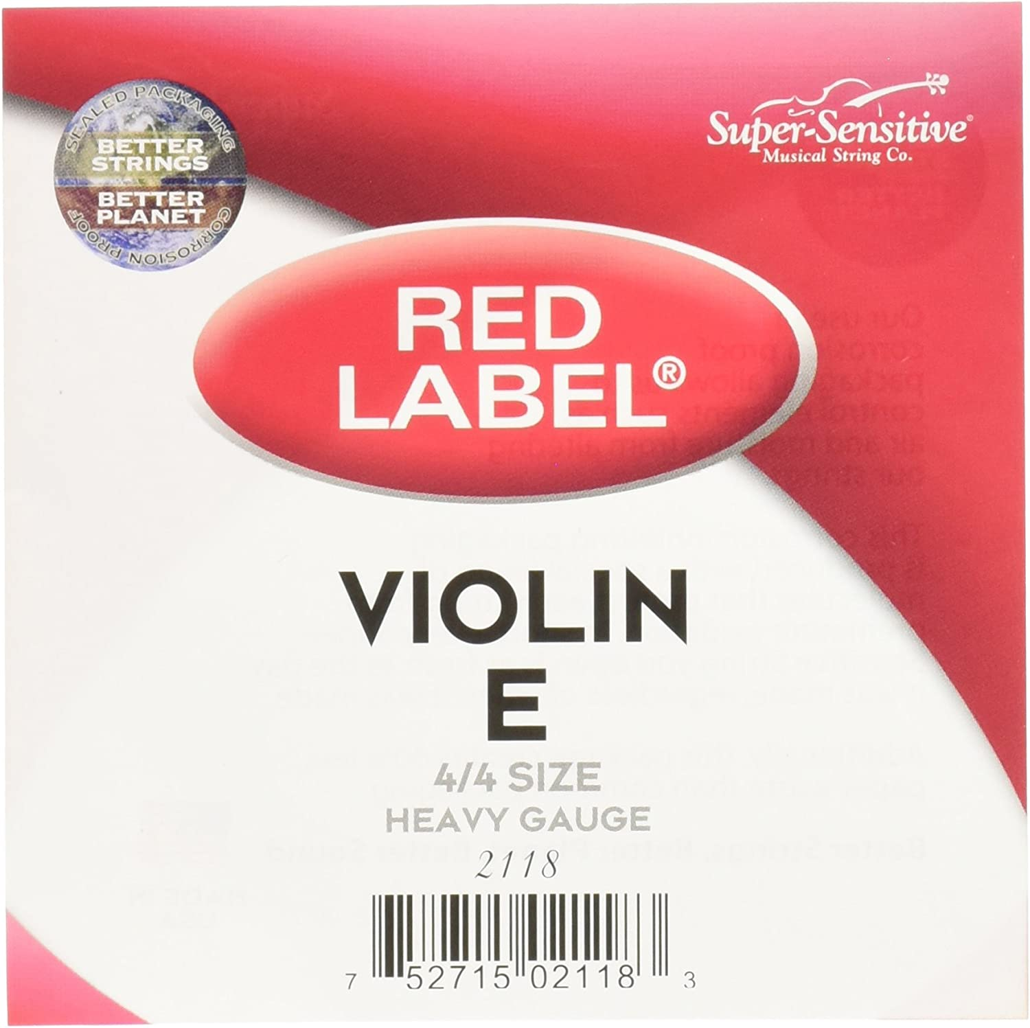 Red Lable Violin E String 4//4 Steel Ball End Medium