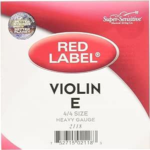Super Sensitive 2118 Red Label E String - Steel - Violin - 4/4 - Orchestra Gauge
