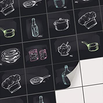 Sticker Carrelage Cuisine Adhesif Adhésive Décorative à Carreaux