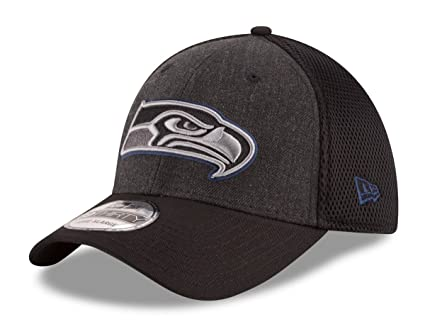 38c5e9b9ec5 ... team classic hat ecc7a ef96f  official store seattle seahawks new era  nfl 39thirty quotheathered black neoquot flex fit hat size c94ff
