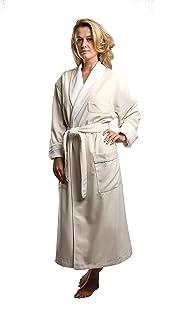 b25a916ffc Terry Lined Microfiber Hotel Robe - Luxury Spa Bathrobe by Monarch Cypress
