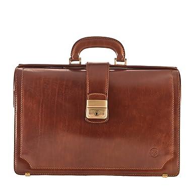 0a61923898 Maxwell Scott Luxury Tan Executive Briefcase (The Basilio) - One Size