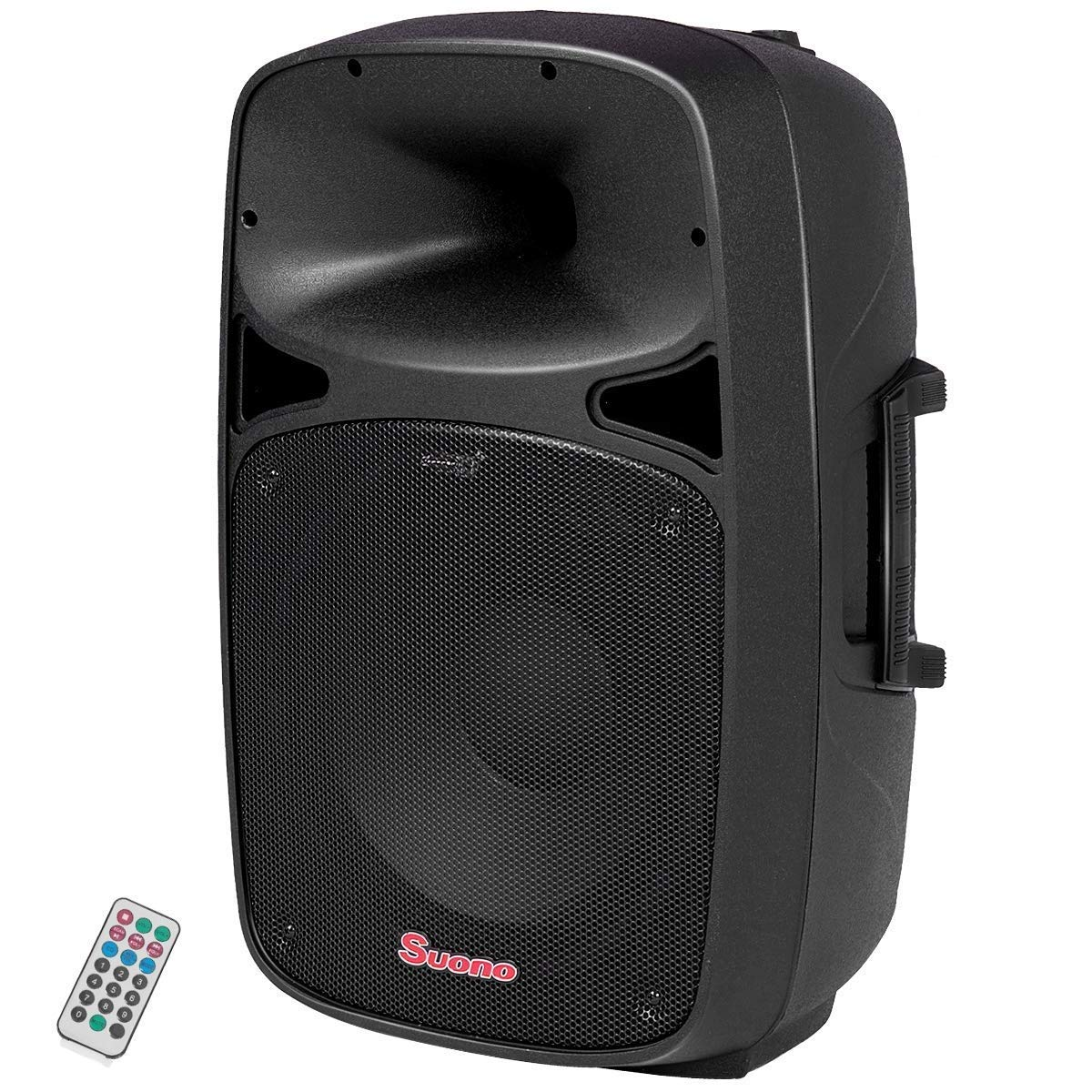 Suono Powered Speaker, 2-Way Portable Professional DJ PA Speaker with Remote Control (15