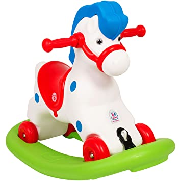 Cavallo A Dondolo Chicco Rodeo.Chicco 70603 Multicolore Chicco Rodeo Gioco Cavalcabile 3 In 1