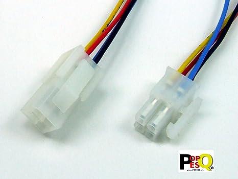 venta minorista baratas para descuento Venta caliente 2019 Connecteur mâle/Fiche + Connecteur Femelle/Prise, 4 Broches/pins, avec  câble, Distance Entre Broches/Pitch 4,2 mm (ATX) #A1659