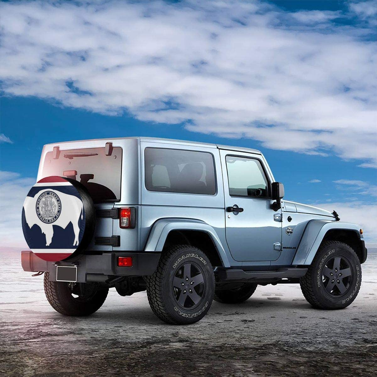 SUV RV Truck and Many Vehicle Kanteband Universal Spare Tire Cover Detroit Lions Weatherproof Tire Protectors Spare Wheel Tire Cover Fit for Jeep Trailer